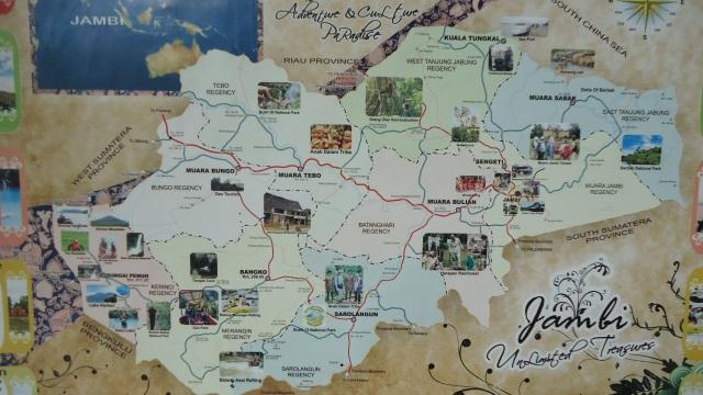 Jambi tourism map