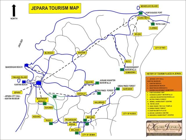 JEPARA TOURISM MAP