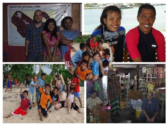 With friendly people in Wangi-wangi