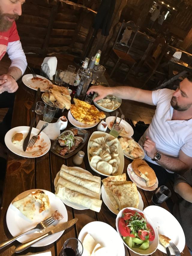 Our table in Salobie Restaurant, Mskheta